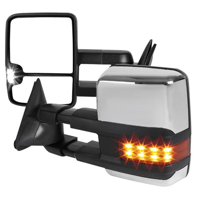 Spec-D Towing Mirrors Chevy C/K 1500 2500 3500 (1988-2002) LED & Powered