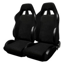 Load image into Gallery viewer, Spec-D Racing Seats [JDM Bride Style - Black Cloth - Pair) RS-501-2