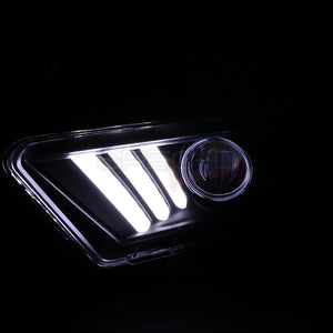 Spec-D Projector Headlights Ford Mustang [Sequential LED] (10-14) Black or Chrome