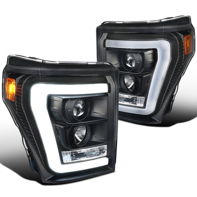 Spec-D Projector Headlights Ford F250 / F350 [LED DRL] (2011-2016) Black / Tinted / Clear