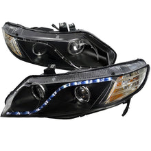 Load image into Gallery viewer, Spec-D Projector Headlights Honda Civic Sedan [R8 LED] (06-11) Black Housing
