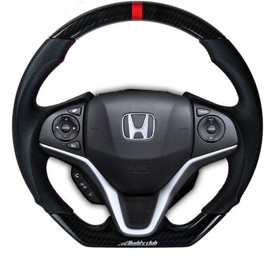 Buddy Club Steering Wheel Honda Fit [Racing Spec] (2015-2019) Leather or Carbon