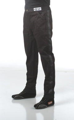 RaceQuip 110 Series Pyrovatex Single Layer Racing Driver Fire Suit Pants [SFI 3.2A/ 1] - Black