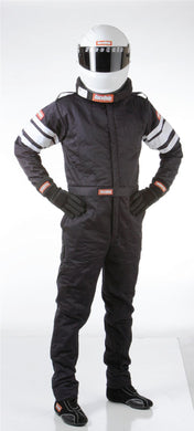RaceQuip 120 Series Pyrovatex One Piece Multi Layer Racing Driver Fire Suit [SFI 3.2A/5] - Black/Red/Blue