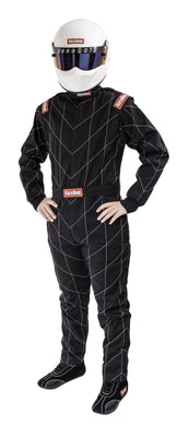 RaceQuip Chevron-1 FRC One Piece Single Layer Racing Driver Fire Suit [SFI 3.2A/1] - Black/Red/Blue
