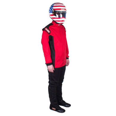 RaceQuip Chevron-1 Single Layer Racing Driver Fire Suit Jacket [SFI 3.2A/1] - Red / Blue