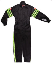 Load image into Gallery viewer, RaceQuip SFI-1 Pro-1 One Piece Single Layer Kids Suits [SFI 3.2A/1] - Purple/Green/Pink/Black Trim