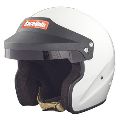 RaceQuip OF15 Snell SA2015 Open Face Helmets - White