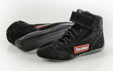 RaceQuip 303 Series SFI Mid-Top Racing Shoes - Black Sizes 8-13