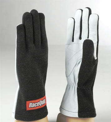 RaceQuip 350 Series Basic Race Gloves 1 Layer Nomex [Non SFI Rated] - Black