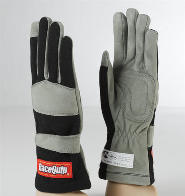RaceQuip 351 Series Race Gloves 1 Layer Nomex [SFI 3.3/1] - Black/Red/Blue