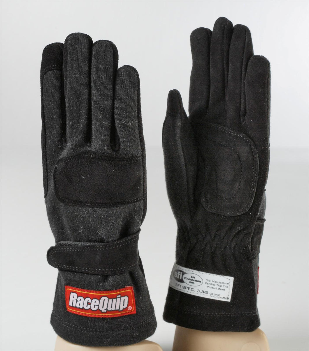 RaceQuip 355 Series Race Gloves 2 Layer Nomex [SFI 3.3/5] - Black/Red/Blue