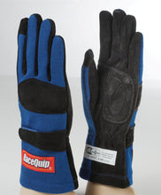Load image into Gallery viewer, RaceQuip 355 Series Race Gloves 2 Layer Nomex [SFI 3.3/5] - Black/Red/Blue