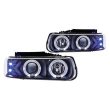Load image into Gallery viewer, Winjet Projector Headlights Chevy Suburban / Tahoe (2000-2006) Halo LED - Black or Chrome