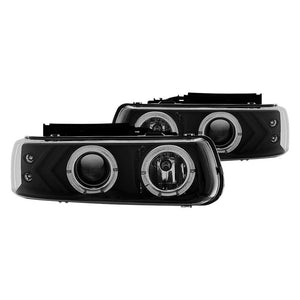 Winjet Projector Headlights Chevy Suburban / Tahoe (2000-2006) Halo LED - Black or Chrome