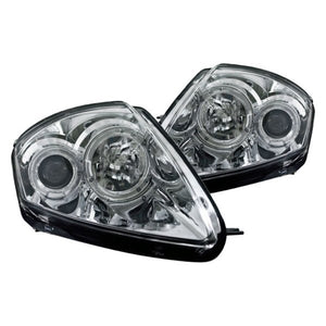 Winjet Projector Head Light Mitsubishi Eclipse 3G (2000-2005) Halo LED - Chrome or Black