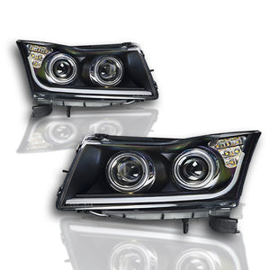 Winjet Projector Headlights Chevy Cruze (2011-2016) LED - Black