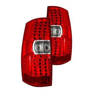 Winjet LED Tail Lights Chevy Suburban / Tahoe (2007-2014) Black / Smoke or Chrome / Red