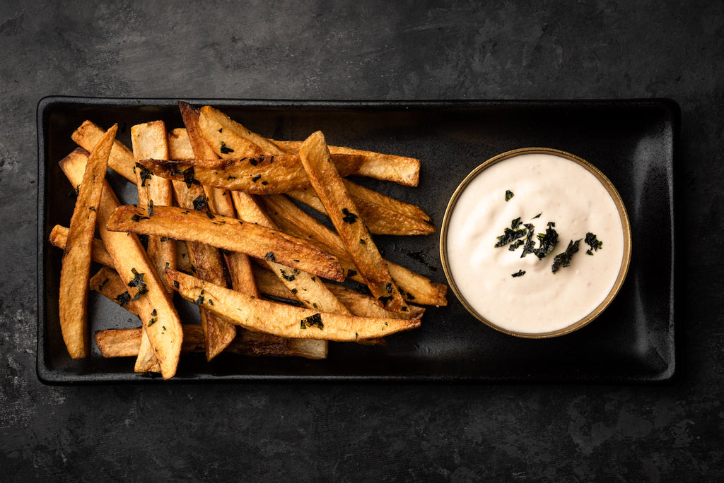 Smoked Octopus-Mayo with Nori Fries
