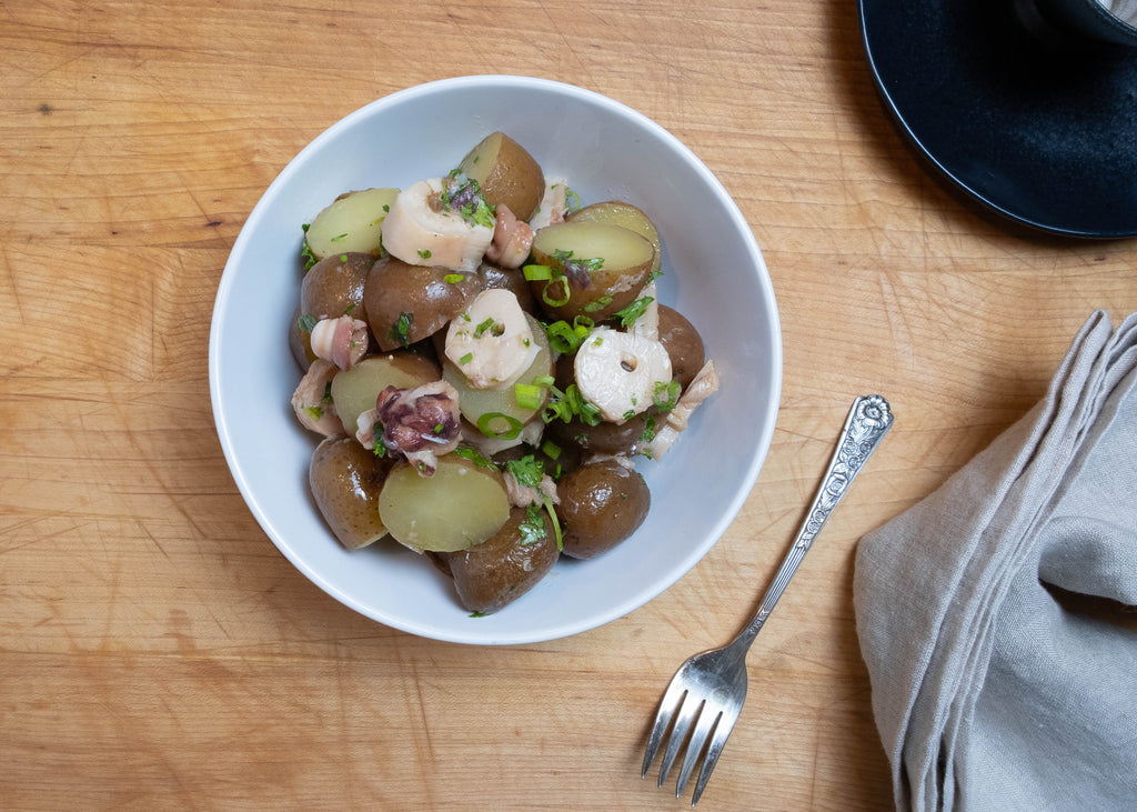 Smoked Octopus Potato Salad