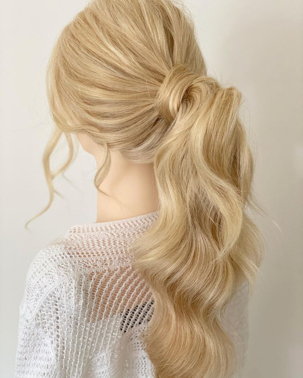Platinum Blonde 100% Remy Hair Ponytail Extension