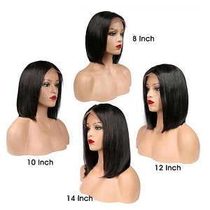 Short Straight Bob Wigs Human Hair Lace Front Wigs for Black Women