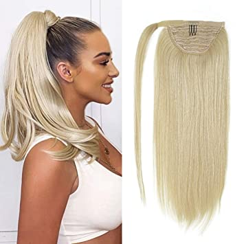 "20"" Platinum Blonde Ponytail"