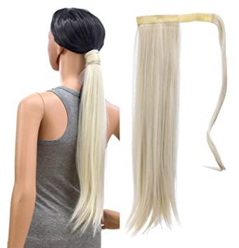 "Wigmfg 20"" Platinum Blonde Ponytail"
