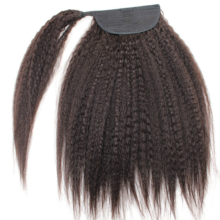 12-28 inch Afro Fluffy Style Bomb 100% HumanHair Wrap Around Ponytail Extension