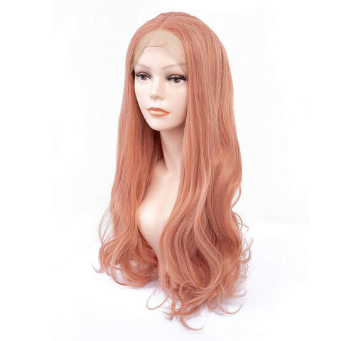 Middle part Pink Lace Front Wig