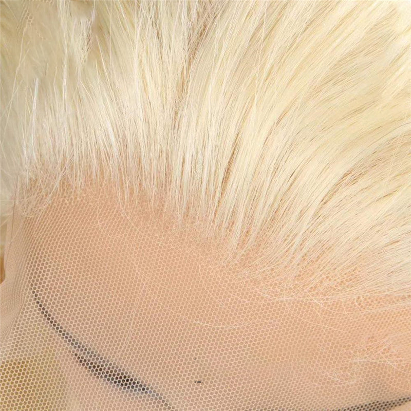 Lace Front Human Hair Wigs Blonde Wigs Natural Hailine 13*4 Lace Part 120% Density