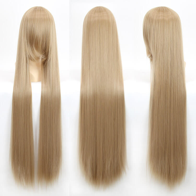 100cm 40inch Plenty Volume Hair Pro Cosplay Wigs Long Straight Wig for Professional Cosplayer