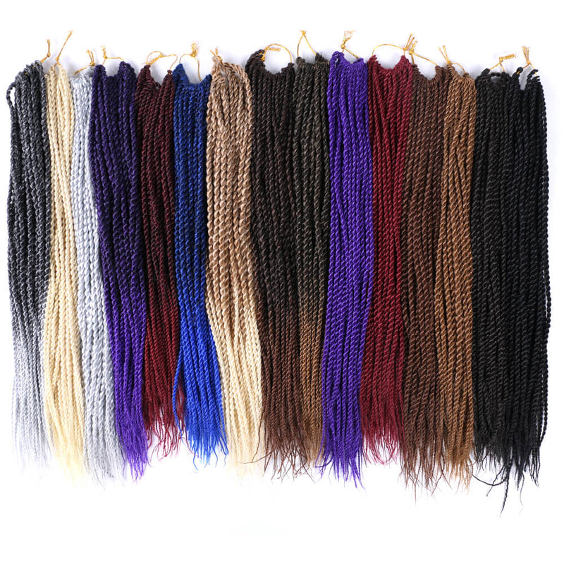 7 Packs 18 Inch Medium Goddess Box Braids Crochet Hair Extensions Synthetic Hair Crochet Braids