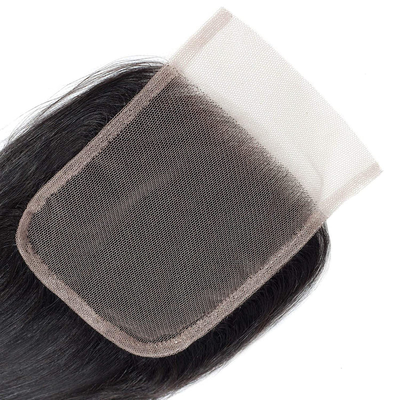 Lace Closure Human Hair Body Wave Closure 4X4 Free Part 100% Unprocessed Human Hair Weave Swiss