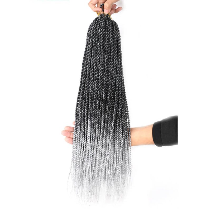 18inch Passion Twist Hair Water Wave Crochet Braids Hair for Butterfly Locs Synthetic Crochet Hair Passion Twist Synthetic Braiding Hair Hair Extensions