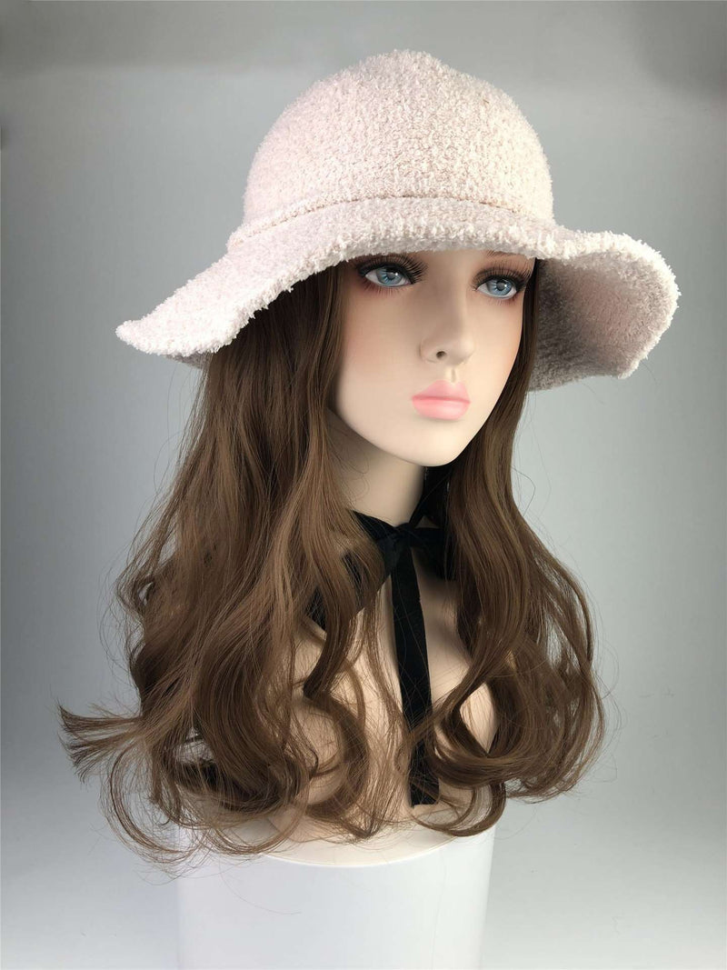 Wig with Hat 2 in 1 Long Wavy Wig Full Head Set Wig Sew in Cap WigMFG