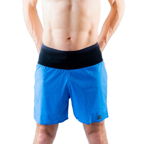 T8 Blue Sherpa Shorts Mens