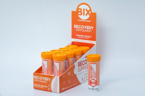 Bix Recovery Hydration Tablet - Orange Mango Flavour (Box of 8 Tubes)
