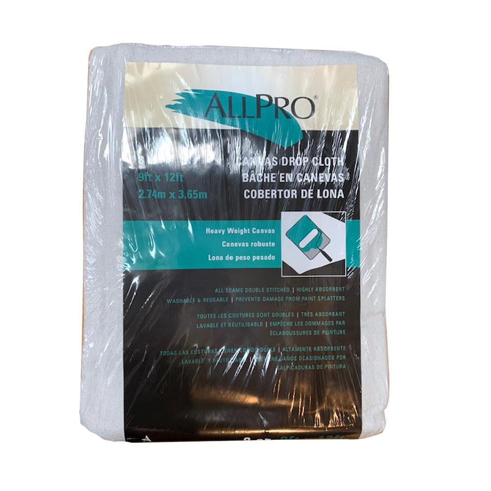 ALLPRO 8oz 9x12 canvas drop cloth, available at JC Licht in Chicago, IL.