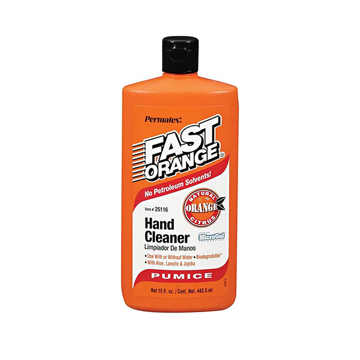 Orange hand cleaner, available at JC Licht in Chicago, IL.