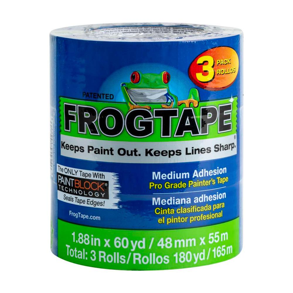Blue frogtape medium adhesion 3 pack, available at JC Licht in Chicago, IL.