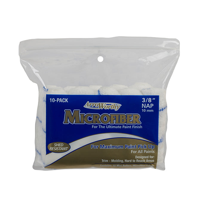 "Arroworthy microfiber 4x3/8"" rollers in a 10 pack, available at JC Licht in Chicago, IL."