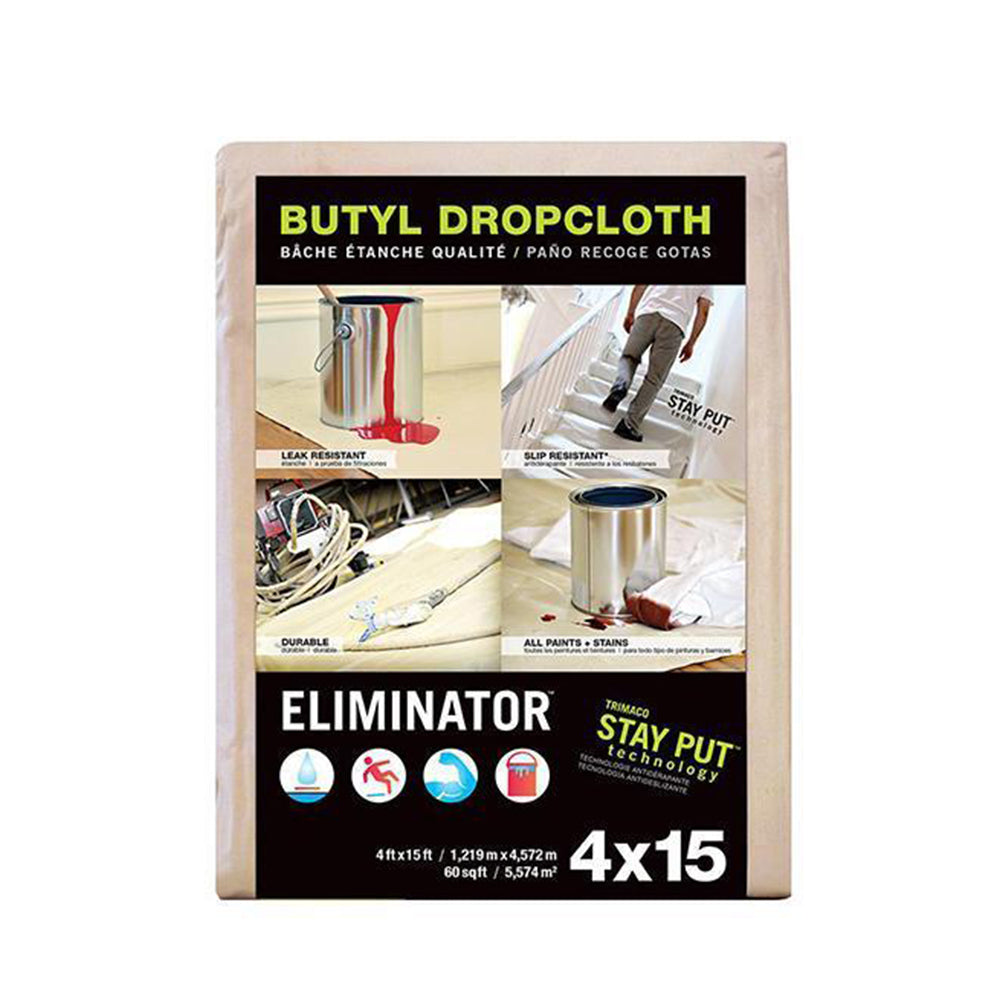 Trimaco Eliminator Butyl Drop Cloth, available at JC Licht in Chicago, IL.