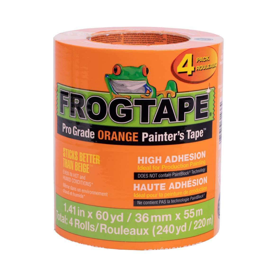 Orange frogtape high adhesion 4 pack, available at JC Licht in Chicago, IL.