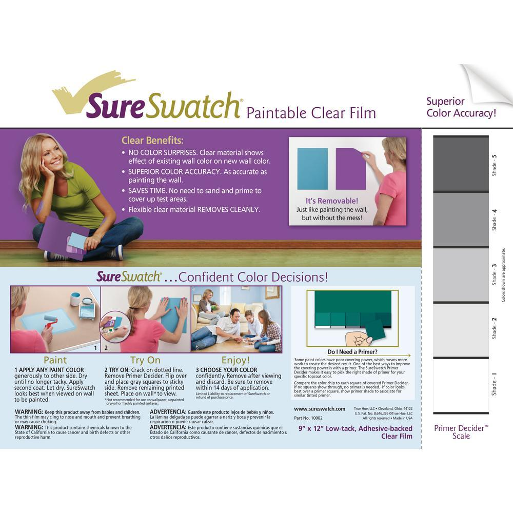 SureSwatch Paintable Clear Film (3 Pack)