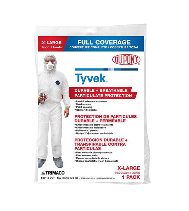 Tyvek Coveralls with Hood and Boots, available at JC Licht in Chicago, IL.
