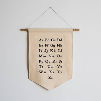 Schoolhouse Alphabet Eco Canvas Banner