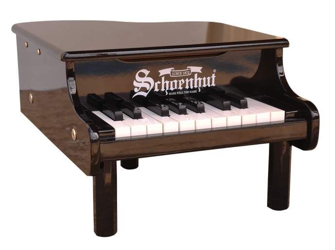 Mini Grand Piano 18-Key Black - Your Little Dove