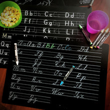 Load image into Gallery viewer, Educational Wipeable Chalkboard Placemats