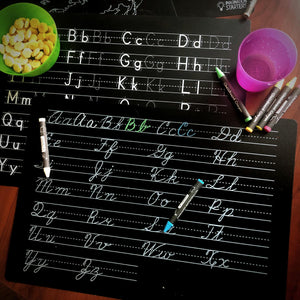 Educational Wipeable Chalkboard Placemats